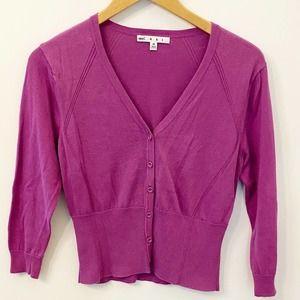 CaBi Cropped Purple Cardigan Style 865